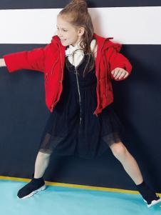 Yuki So女童红色羽绒服