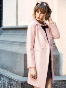 37度LOVE粉色大衣