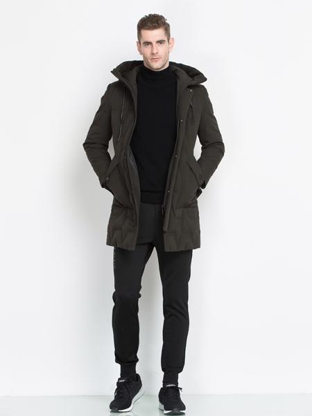 袋鼠男装经典黑色外套