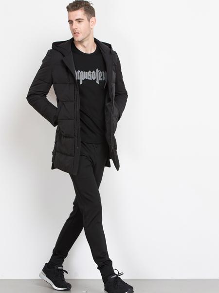 袋鼠男装2017新款外套