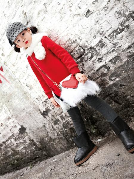 玛玛米雅2017秋冬新款红色卫衣