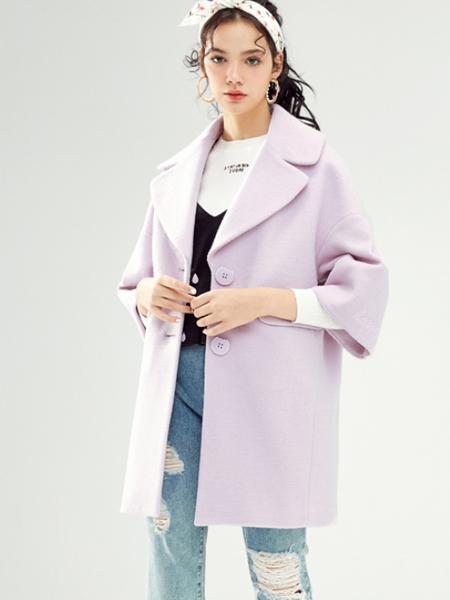 夺宝奇兵韩版紫色大衣