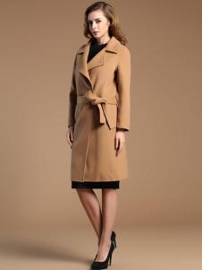 薇妮兰折扣女装秋冬系带大衣