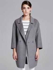 薇妮兰折扣女装秋冬灰色大衣
