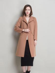 薇妮兰折扣女装秋冬长款大衣
