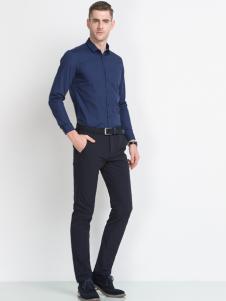 袋鼠男装商务休闲衬衫