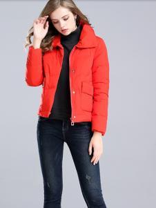 夺宝奇兵女装红色羽绒服