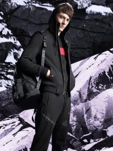 新升流派2017秋冬新款黑色外套