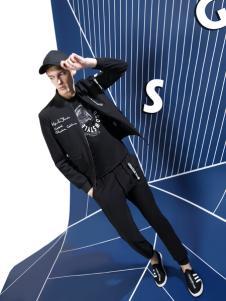 新升流派2017秋冬新款黑色套装