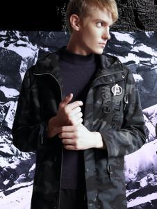 新升流派2017秋冬新款迷彩外套