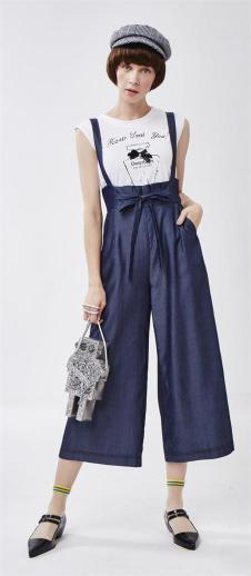 莎蕾新品休闲背带裤