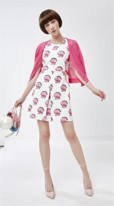 莎蕾新品印花连衣裙
