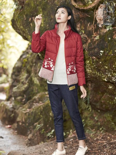 丽比多女装秋冬装短款红色羽绒服