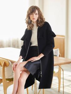 金蝶茜妮冬装新款黑色大衣