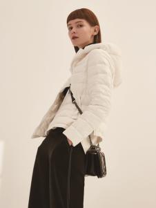 主提ZHUTI2017秋冬新款白色短羽绒服