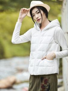 丽比多女装秋冬装新款白色羽绒服