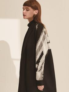 主提ZHUTI2017秋冬新款黑色风衣