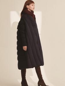 主提ZHUTI2017秋冬新款黑色羽绒服