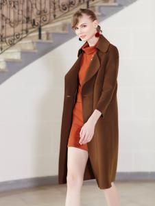 金蝶茜妮冬装新款棕色大衣