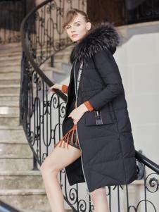 金蝶茜妮冬装新款黑色羽绒服