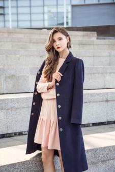Theme2017冬季长款呢子外套