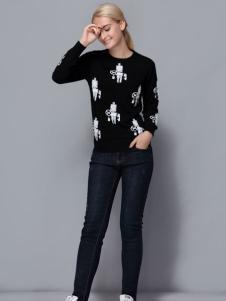 依路佑妮女装17新款毛衣