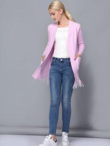 依路佑妮浅紫色唯美开衫