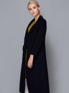 依路佑妮经典黑色大衣