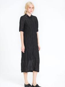 读衣拾年2017新款黑色连衣裙