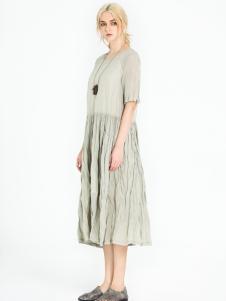 读衣拾年2017新款棉麻连衣裙