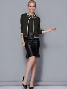 2017依路佑妮女装矮个子气质套装