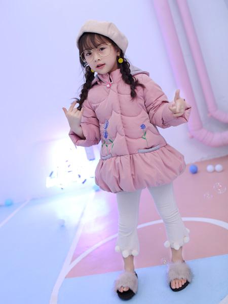 淘淘猫2017冬季新款桃粉色羽绒服