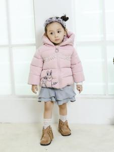 淘淘猫2017冬季新款浅粉色羽绒服