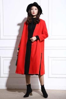Geeborch歌宝琪红色大衣