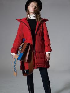 SIEGO西蔻红色羽绒服