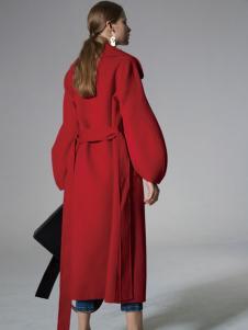 SIEGO西蔻女装红色大衣