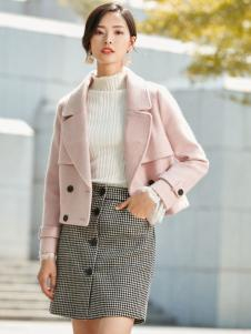 优衣美粉色外套2017