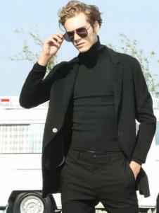 HS男装百搭黑色外套
