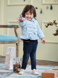 兔子杰罗秋冬小童新款蓝色羽绒服