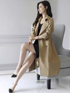 千姿惠女装新款米色大衣