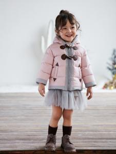兔子杰罗秋冬小童新款粉色棉衣