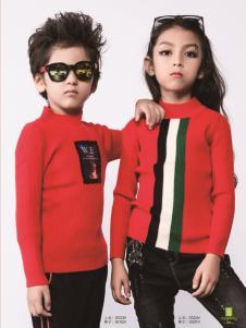 土巴兔童装秋冬新款红色针织衫
