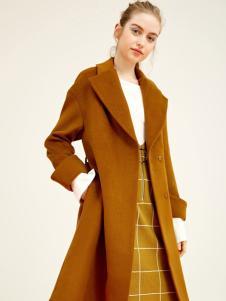 千姿惠女装新款呢子大衣