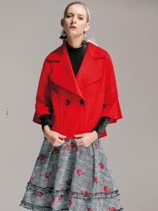 TRUGIRL楚阁冬装新款红色短外套
