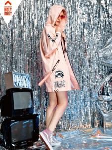 HOLYMOLY2018春夏新款粉色外套