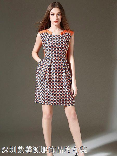品牌女装尾货货源紫馨源品牌折扣女装尾货大量批发