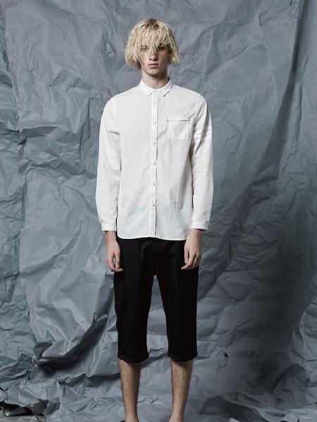 JPE男装2017新款白色衬衫