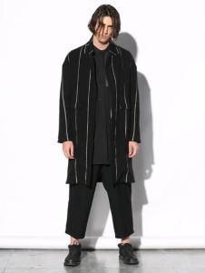 线锁男装条纹外套
