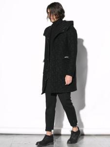 线锁男装17黑色大衣