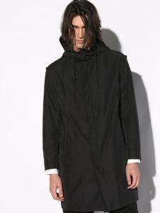 线锁男装黑色简约外套